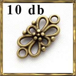 Antikolt bronz színű virágos ovális kapcsoló elem