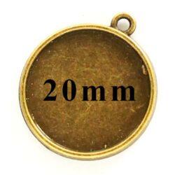 Antikolt bronz színű két oldalas medál 20 mm