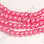 Tekla üveggyöngy Pink 8 mm 2