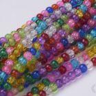 Vegyes színű 4 mm repesztett kerek üveggyöngy 1