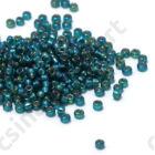 Ezüst közepű smaragd AB / Silver Lined Emerald AB 91017 5g 11/0 2