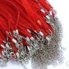 Organza-viaszolt szál nyaklánc alap Piros 2