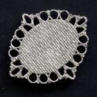Antikolt ezüst színű ovális kapcsoló elem, medál alap 18x25 mm hátoldala
