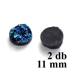2 db 11 mm műgyanta titánium kvarc drúza kaboson