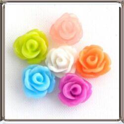 Műanyag rózsa cabochon kaboson dísz 6 mm 10 db
