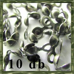 10 db Antikolt bronz lefele nyíló csomófogó