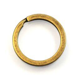 Antikolt bronz színű kulcstartó, kulcskarika 28 mm NIKKELMENTES