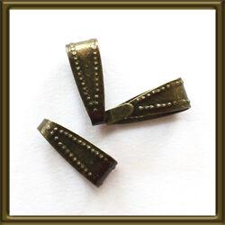5 db Antikolt bronz színű medáltartó 10x4 mm NIKKELMENTES