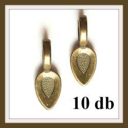 10 db Antikolt bronz színű nyelves medáltartó NIKKELMENTES