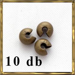 Antikolt bronz színű, réz stopper rejtő 4 mm NIKKELMENTES