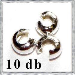 10 db Ezüstözött réz stopper rejtő NIKKELMENTES