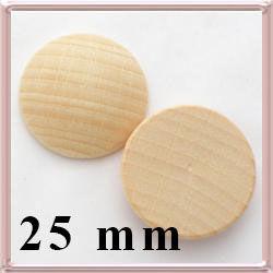 Fa lencse, alap gyöngyfűzéshez 25 mm