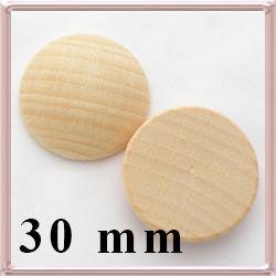 Fa lencse, alap gyöngyfűzéshez 30 mm