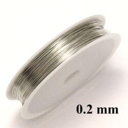 Ezüst színű rézdrót félkemény 0.2 mm kb. 40 m