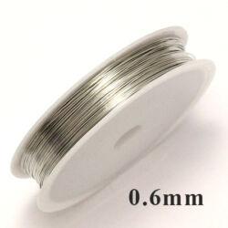 Ezüst színű rézdrót félkemény 0.6 mm kb. 8m