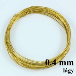 Sárgaréz drót LÁGY 0.4 kb. 10 m