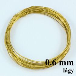 Sárgaréz drót LÁGY 0.6 mm kb. 5m NIKKELMENTES