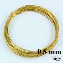 Sárgaréz drót LÁGY 0.8 mm kb. 4 m NIKKELMENTES