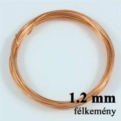 Vörösréz drót félkemény 1.2 mm kb. 2m NIKKELMENTES