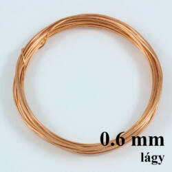 Vörösréz drót LÁGY 0.6mm kb. 5 m NIKKELMENTES