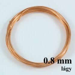 Vörösréz drót LÁGY 0.8 mm kb. 4 m NIKKELMENTES