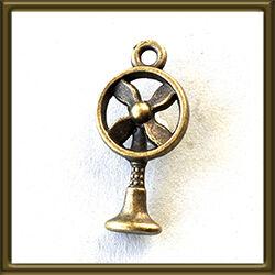 Antikolt bronz színű ventilátor medál NIKKELMENTES