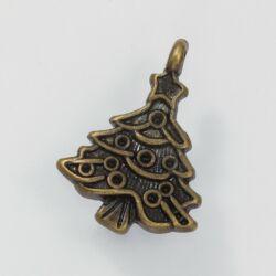 Antikolt bronz színű díszes karácsonyfa függő dísz NIKKELMENTES