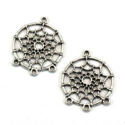 2 db Antikolt ezüst színű álomfogó függő dísz medál NIKKELMENTES