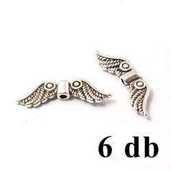 6 db Antikolt ezüst színű csigás angyalszárny köztes gyöngy NIKKELMENTES