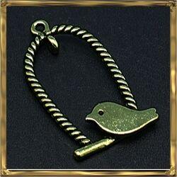 Antikolt bronz madárkás hinta medál NIKKELMENTES