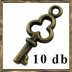 10 db Antikolt bronz kulcs függő dísz NIKKELMENTES