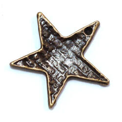 Antikolt bronz színű rusztikus csillag függő dísz NIKKELMENTES