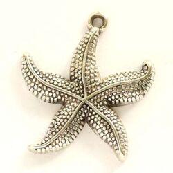 Antikolt ezüst színű tengericsillag függő dísz