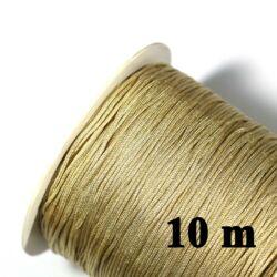 10 m Bézs 0.8 mm vastag fonott selyemszál