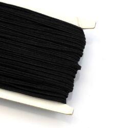 Fekete 3mm-es sujtás zsinór