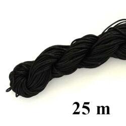 25 m Fekete fonott selyemszál