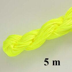 5 m Neon Sárga Fonott selyemszál