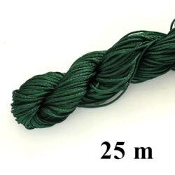 25 m Sötét zöld fonott selyemszál