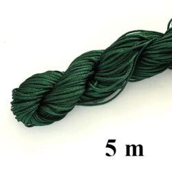 5 m Sötét Zöld Fonott selyemszál