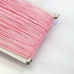 1 méter Halvány rózsaszín 3mm-es sujtás zsinór