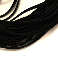 Lapos műbőr velúrszál 1 m Fekete