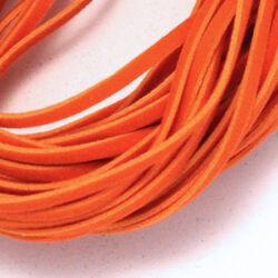Lapos műbőr velúrszál 1 m Narancssárga