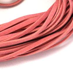 Lapos műbőr velúrszál 1 m Rózsaszín sötét