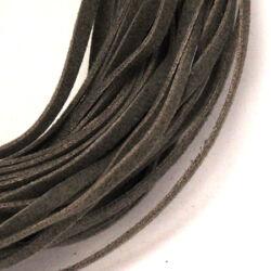 Lapos műbőr velúrszál 1 m Szürke sötét