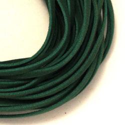 Lapos műbőr velúrszál 1 m Zöld sötét