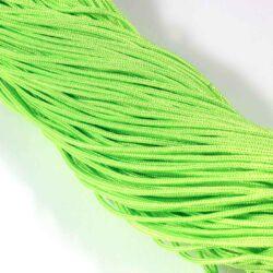 Neonzöld 2 mm vastag paracord stílusú fonott zsinór