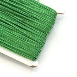1 méter Páfrányzöld 3mm-es sujtás zsinór
