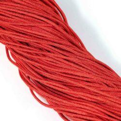 Piros 2 mm vastag paracord stílusú fonott zsinór