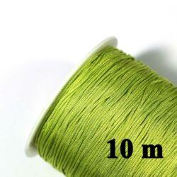 10 m Sárgászöld 0.8 mm vastag fonott selyemszál