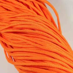Sötét narancssárga 4 mm vastag paracord stílusú fonott zsinór